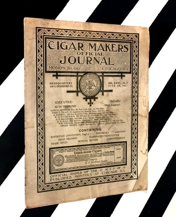 Cigar Makers Official Journal (1880) softcover magazine