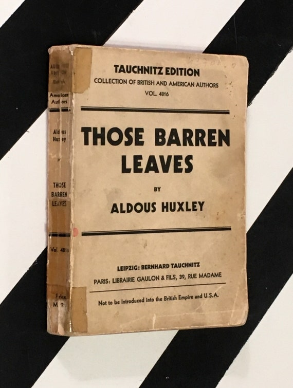 Those Barren Leaves by Aldous Huxley (1930) softcover book