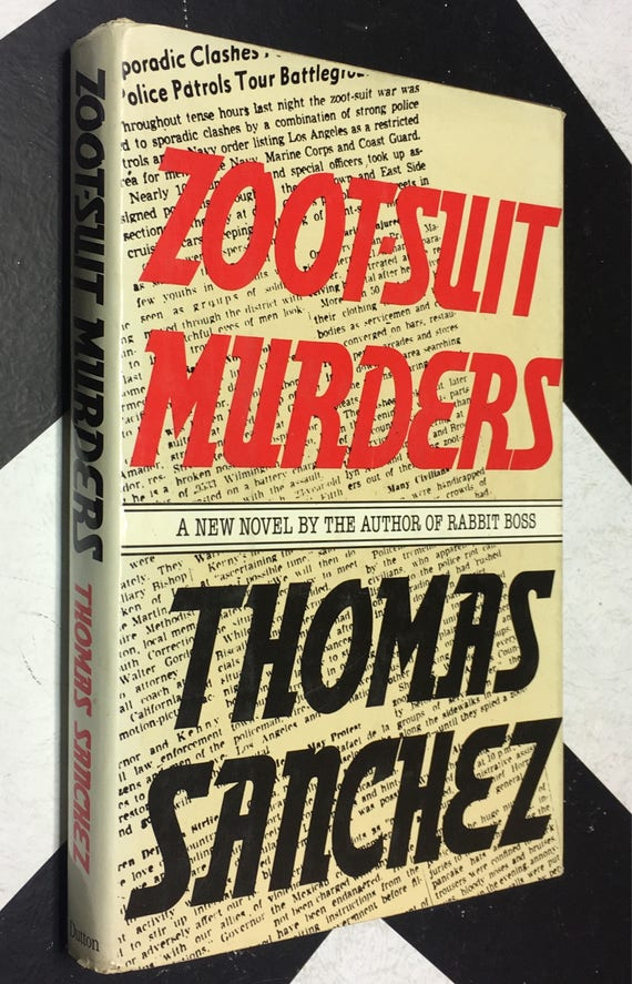 Zoot-Suit Murders by Thomas Sanchez (Hardcover, 1978) vintage book
