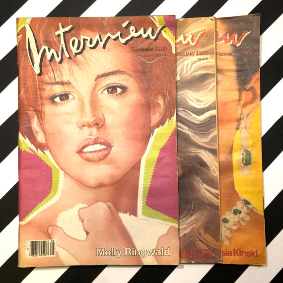 Interview Magazine - 3 issues - Molly Ringwald / Kim Basinger / Nastassia Kinski (1983-1986)