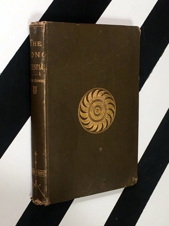 The Song Celestial or Bhagavad-Gita by Edwin Arnold (1890) hardcover book