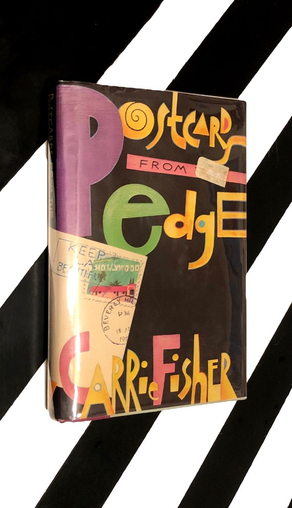 Postcards from the Edge by Carrie Fisher (1987) hardcover first edition book
