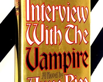Interview with the Vampire: A Novel by Anne Rice (1992) hardcover signed book