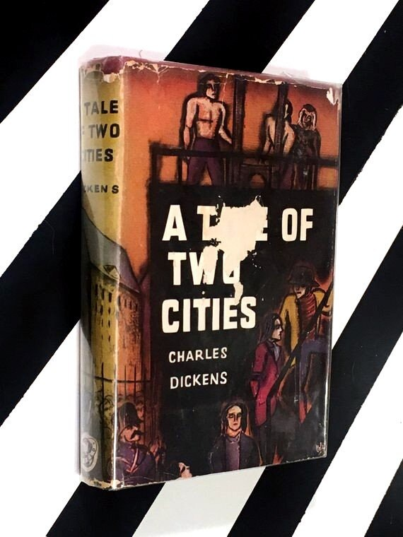 A Tale of Two Cities by Charles Dickens (1940) hardcover book
