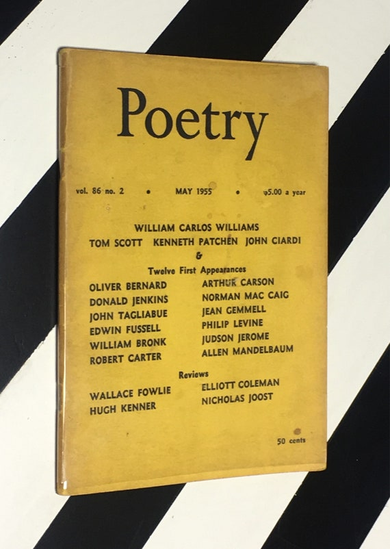 Poetry for May 1955 Vol. 86 No. 2 (1955) stapled wrappers