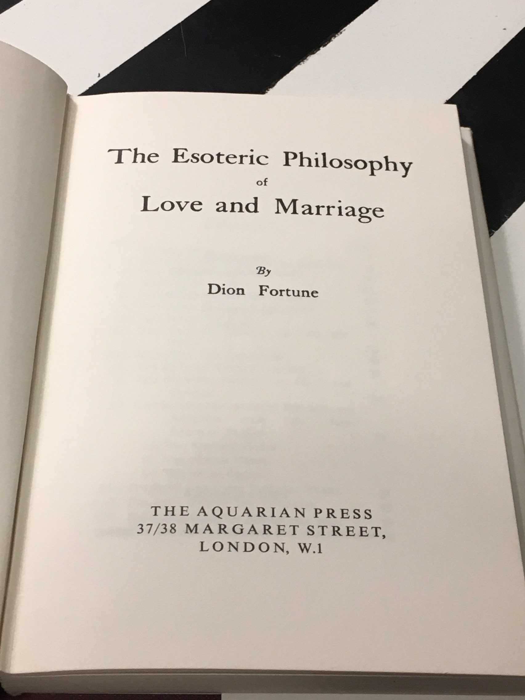 the esoteric philosophy of love and marriage fortune dion