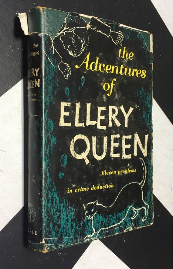 The Adventures of Ellery Queen: Eleven Problems in Crime Deduction (Hardcover, 1947) vintage book