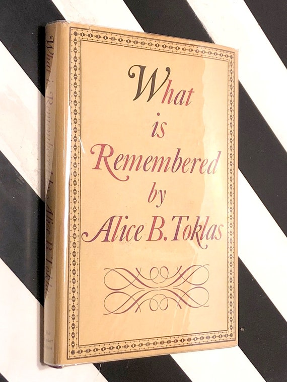 What is Remembered by Alice B. Toklas (1963) first edition book