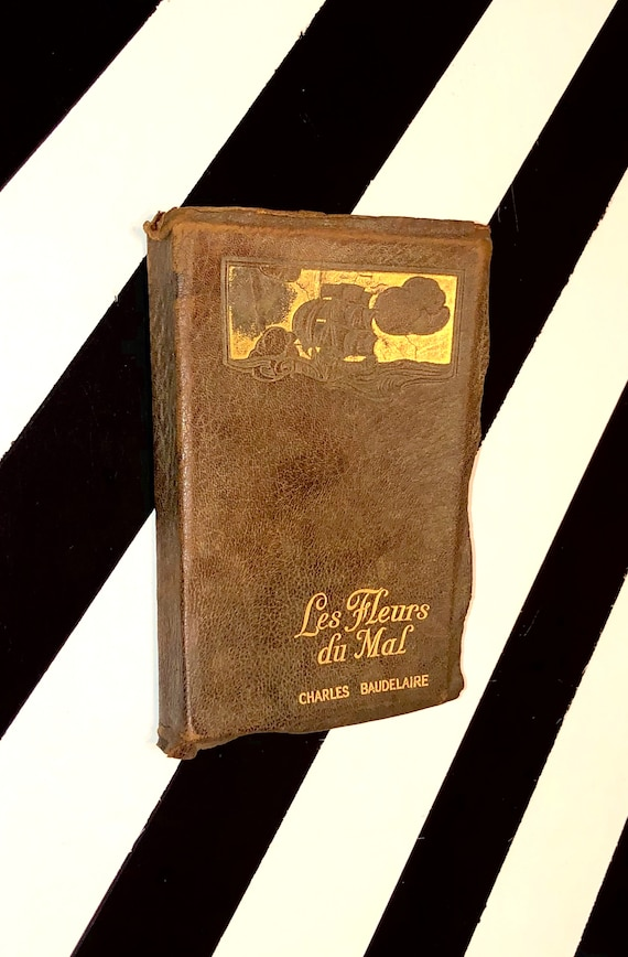 Les Fleurs du Mal by Charles Baudelaire (no date) softcover leatherette bound book