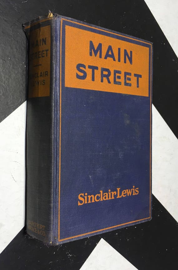 Main Street by Sinclair Lewis (Hardcover, 1921) vintage book