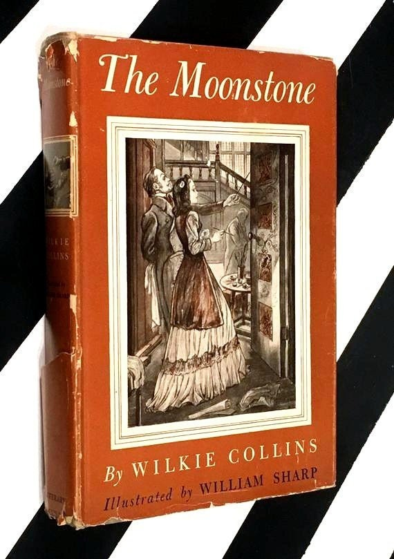 The Moonstone by Wilkie Collins illustrated by William Sharp (1946) hardcover book