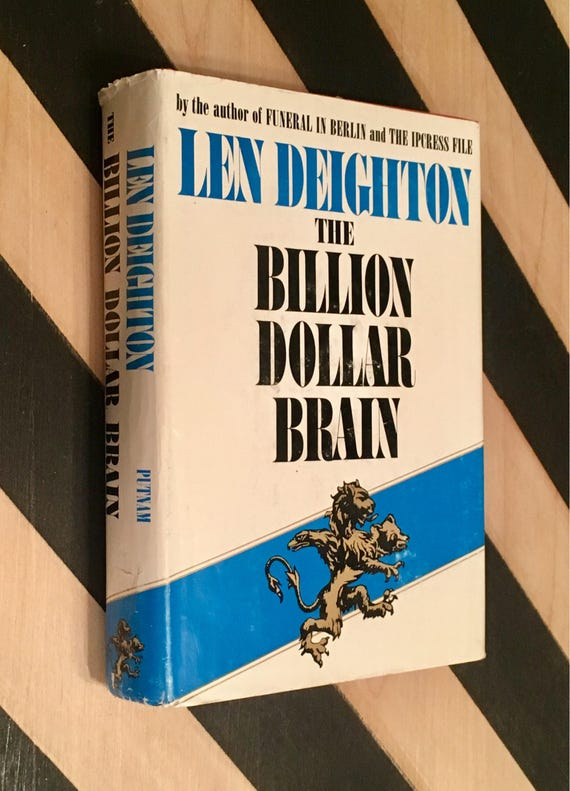 The Billion Dollar Brain by Len Deighton (1966) hardcover book