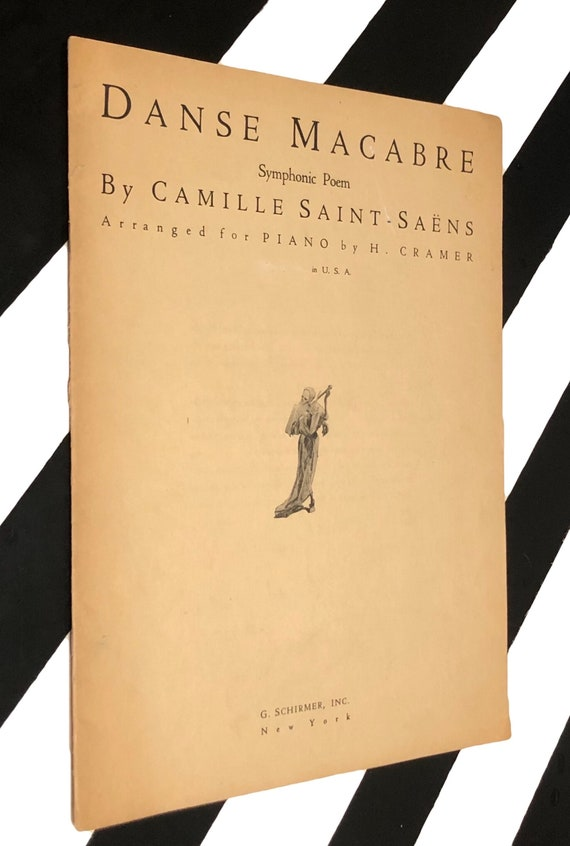 Danse Macabre by Camille Saint-Saëns (1934) soft cover vintage sheet music