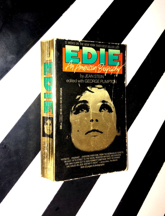 Edie: An American Biography by Jean Stein edited with George Plimpton (1983) softcover book