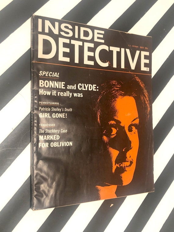 Inside Detective vintage magazine / May 1968