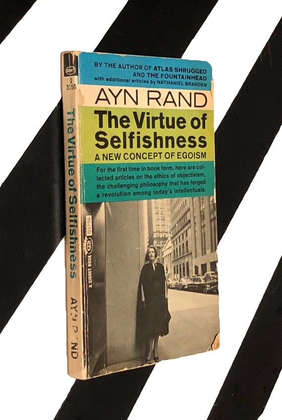 The Virtue of Selfishness: A New Concept of Egoism by Ayn Rand (1964) softcover book