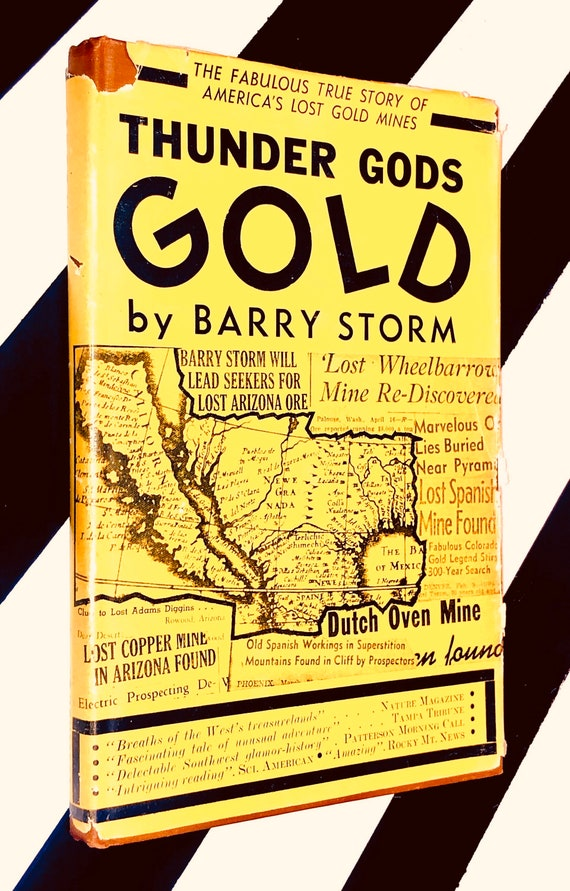 Thunder Gods Gold by Barry Storm (1946) hardcover book