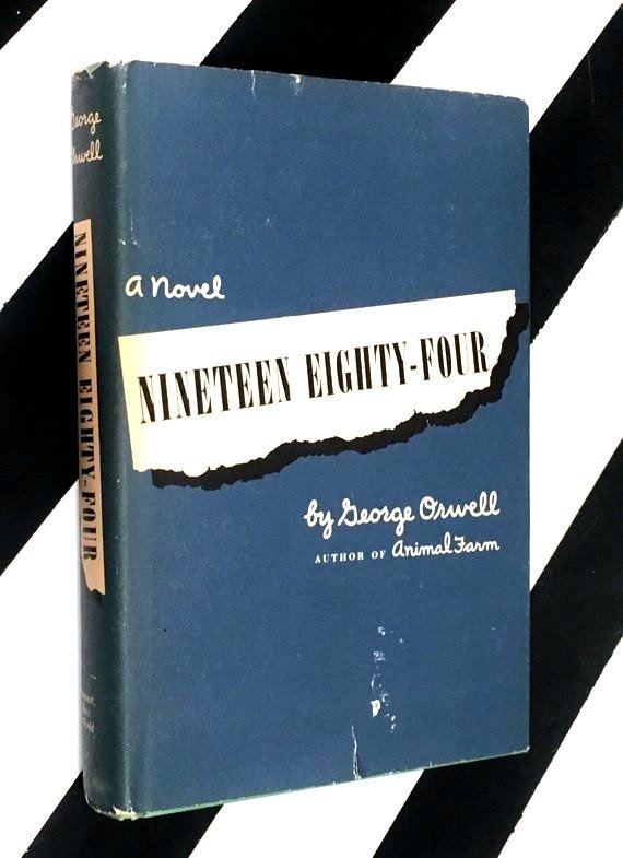 Nineteen Eighty-Four: A Novel by George Orwell (1949) hardcover book