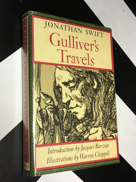 Gulliver's Travels by Jonathan Swift; Introduction by Jacques Barzun, Illustrations by Warren Chappell (Hardcover, 1977)