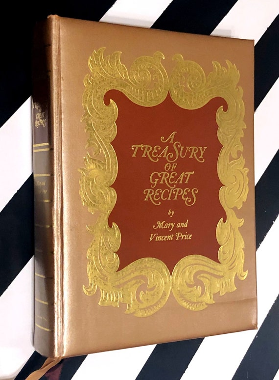 A Treasury of Great Recipes Cookbook by Mary and Vincent Price (1965) hardcover book