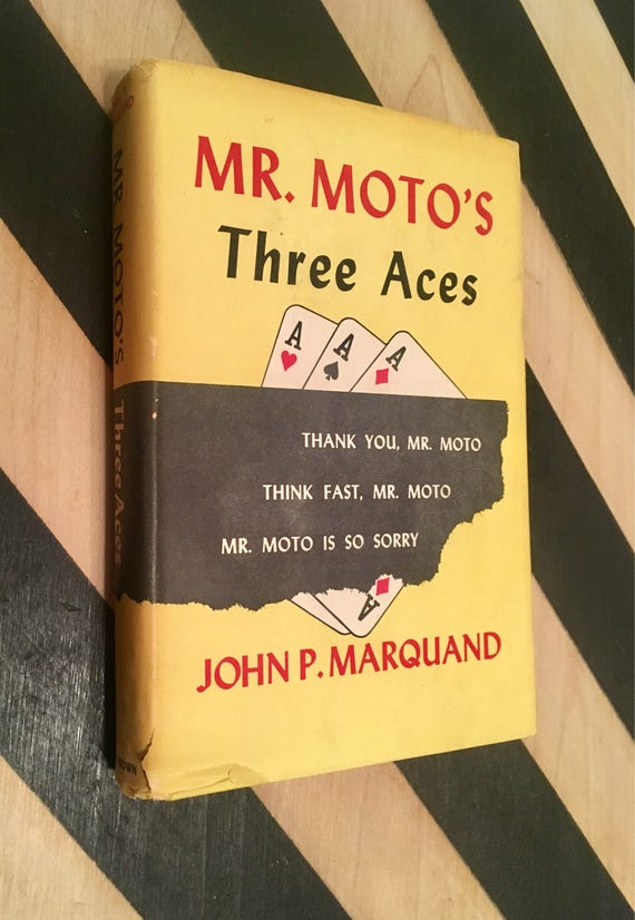 Mr. Moto's Three Aces by John P. Marquand (1938) hardcover book