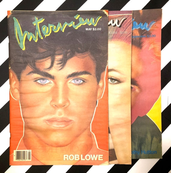 Interview Magazine - 3 issues - Rob Lowe / Diane Lane / Timothy Hutton (1983)