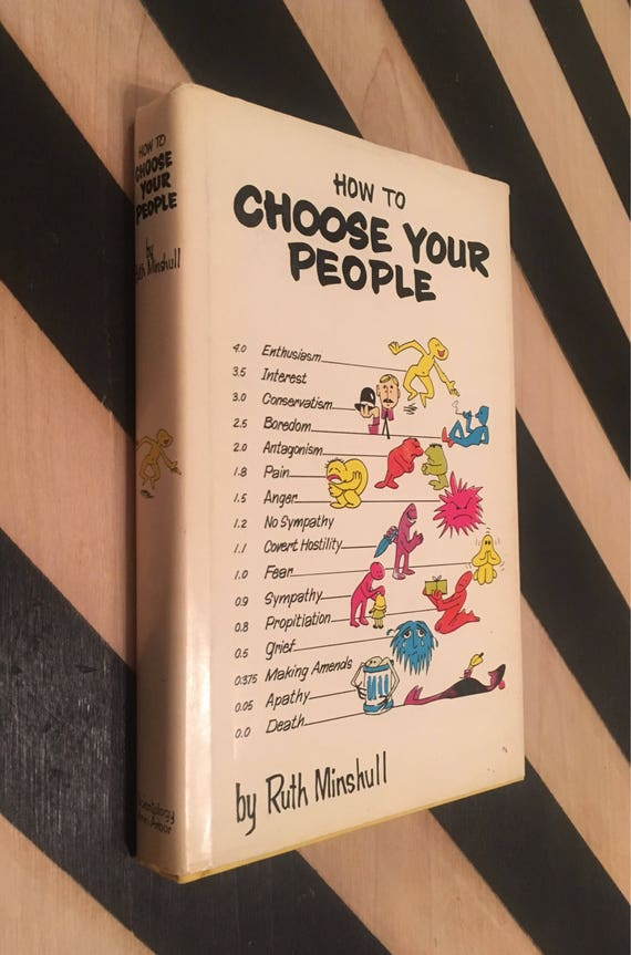 How to Choose Your People by Ruth Minshull (Hardcover, 1972) vintage book