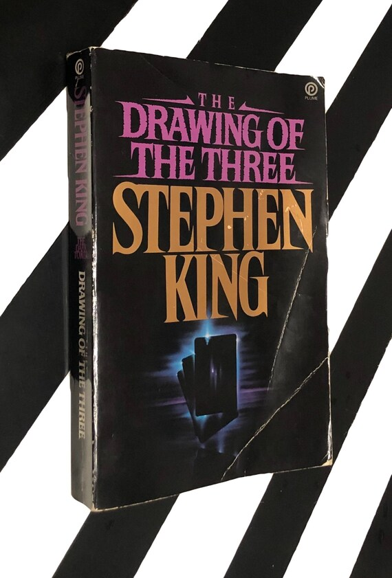 The Drawing of Three by Stephen King (1987) softcover book