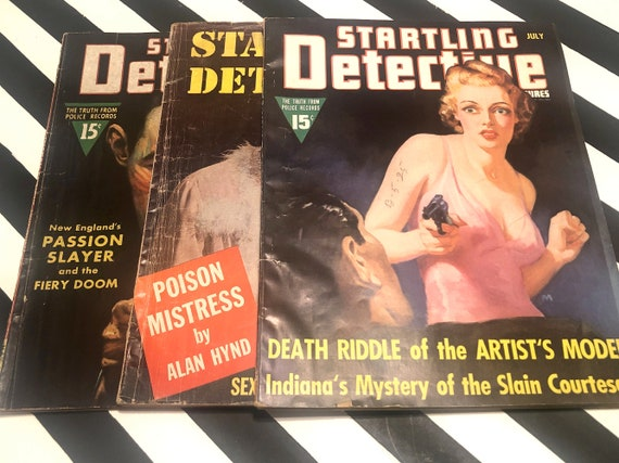Startling Detective Magazine - 3 issues - May 1938 / July 1939 / July 1954
