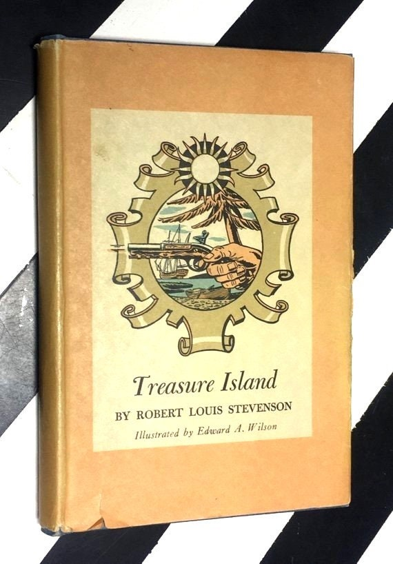 Treasure Island by Robert Louis Stevenson Illustrated by Edward A. Wilson (1941) hardcover book