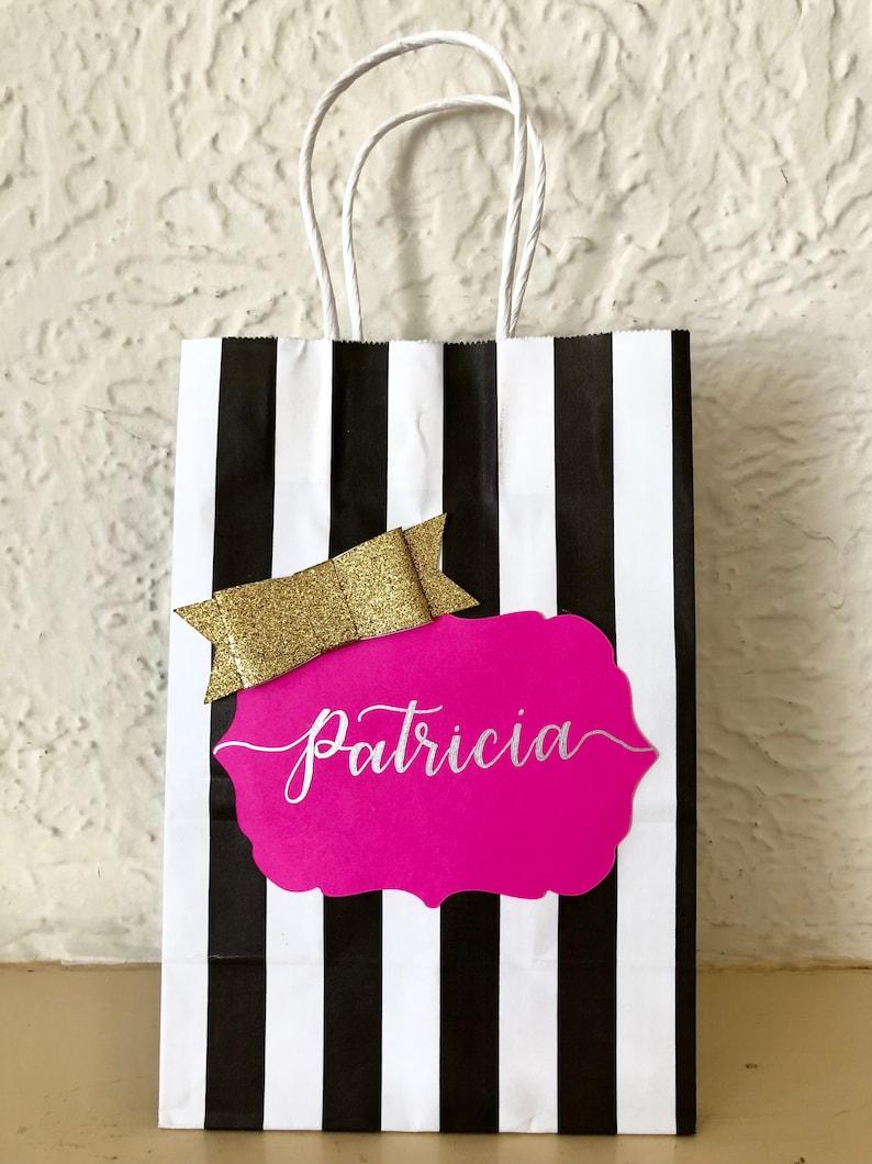Kate Spade Inspired Gift Bags Hand Letter Bags Wedding Gift Etsy