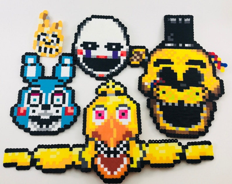 Five Nights At Freddy S Pixel Art Bead Sprites