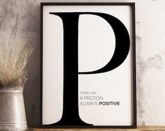Initial Letter P Quote Wall Art Print