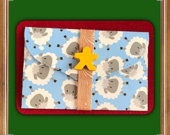 Pig or Sheep gift card holder   money card   board game   DIY coupon   voucher holder   meeple gift   farm
