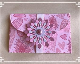 Gift card holder / pockets   love theme   money envelope   love message   DIY coupon   voucher holder