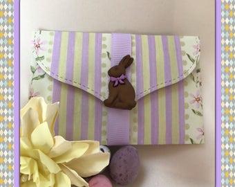 Rabbit Gift card holder / pockets   money holder   pouches   DIY coupon   voucher holder   envelope   Easter