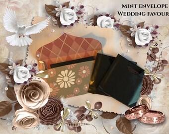 Dinner mint favour envelopes   after dinner mint   favour   wedding   mint cover   mint cover   party