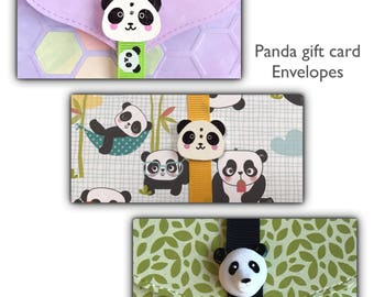 Panda gift card holder   money card   lottery ticket   DIY coupon   voucher holder   charity   stocking filler