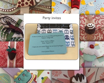 Party invite envelopes with blank insert   personalised   hundreds of themes   games   party   animals   food   drink   adults   invitation