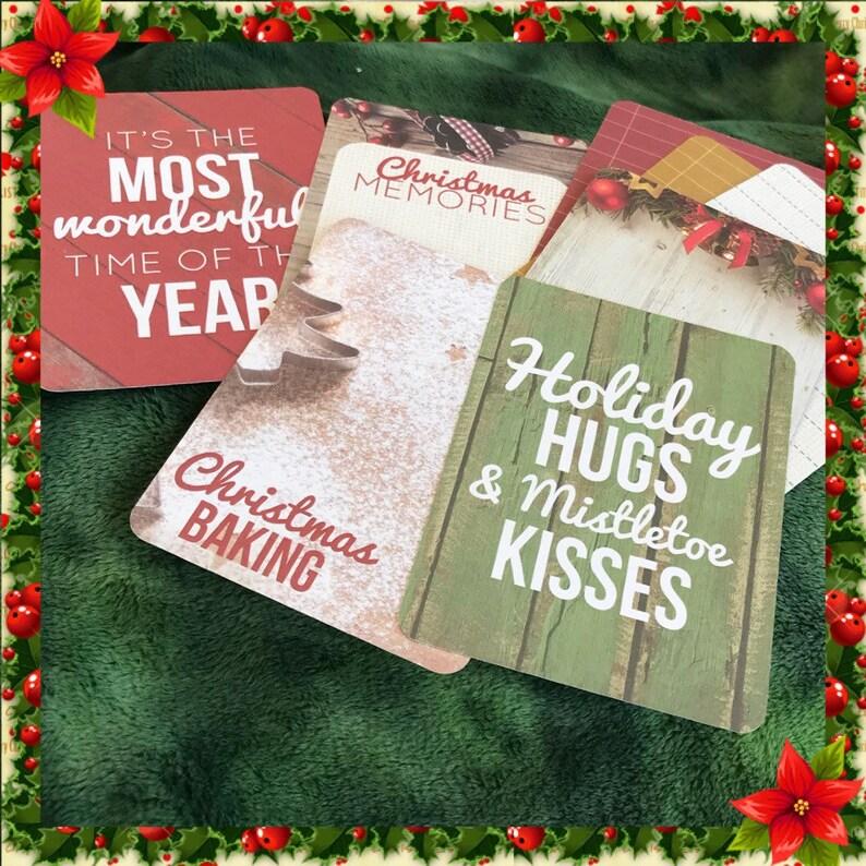 Memory book  mini Christmas Journal  Scrapbook  memory image 0