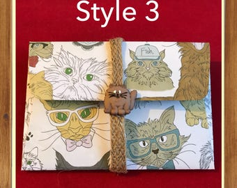 Quirky Cat gift card envelopes    money card   gift card holder  DIY coupon   voucher holder   invite   thank you   ticket