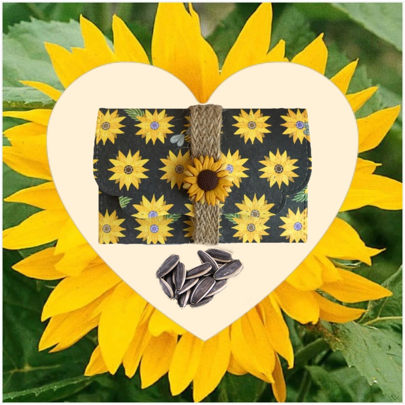 Mini Personalised seed gift. Personalised sunflower seed gift image 0