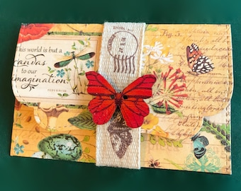 Butterfly garden | gift card holder / envelope | message card | DIY coupon | voucher holder | invite | note