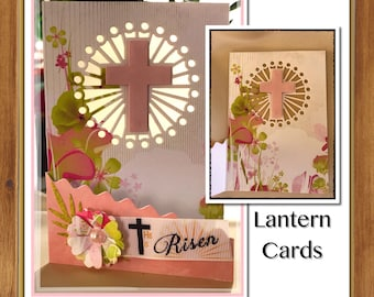 Christian handmade cards   name or event personalisation   sun catcher illuminated   Baptism   Confirmation   Communion   Easter   unique