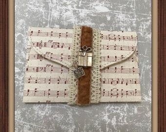 Luxury music gift card holder   2 styles   promise pouch   DIY coupon   voucher holder   envelope   invite