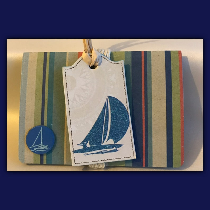 Sailing nautical gift card holder / message envelope | announcement |  invitation | DIY coupon | voucher holder | charity | notecard