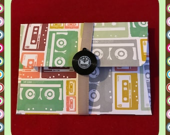 Music record / tape gift card holders / message envelope   vinyl   music   money wallet   DIY coupon   voucher holder   thank you
