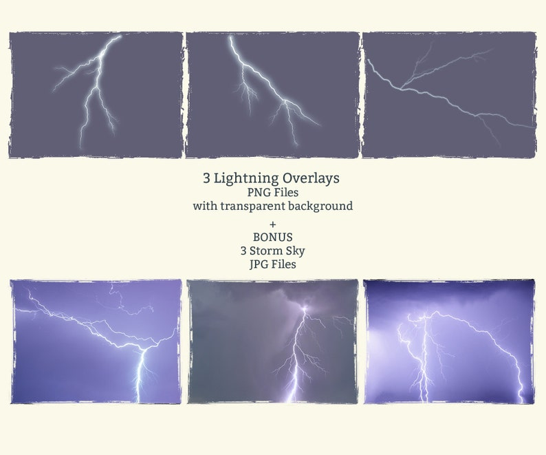 Lightning Overlays, PNG, Storm Sky, Cloud Overlays, Photoshop skies,  Digital sky,Storm, Dramatic,Lightning bolt, Lightning strike