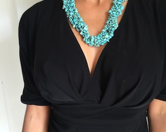 Genuine Turquoise Statement Necklace
