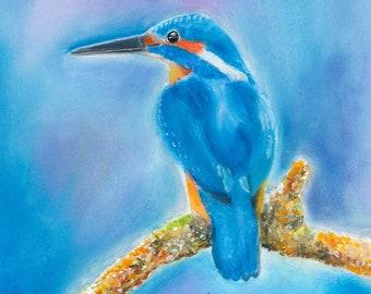 kingfisher, bird paintings, kingfisher art, kingfisher art print, bird art